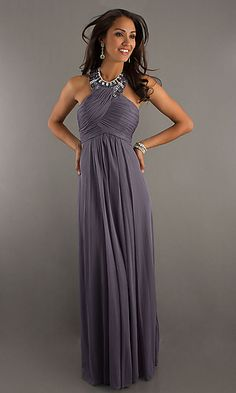 High Neck Halter Evening Gown by Morgan--GREAT idea for Bridesmaid dress (but it's the wrong color for my thoughts)...LOVE the look though!!