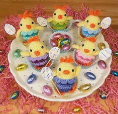 Crochet Easter Chicks Free Pattern #CrochetEaster