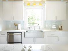 How to Tile a Kitchen, featuring Modwalls' Lush 3x6 subway tile in Cloud #tile #backsplash #kitchen #hgtv