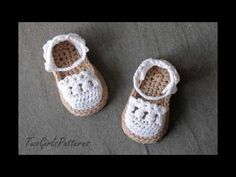 Sandalias de crochet de bebe - YouTube