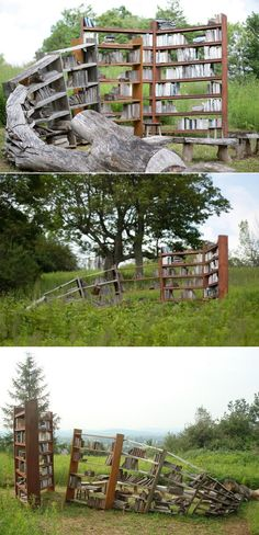 Wild shelves - perfect outdoor library