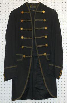 Vintage Victorian 1800's Wool Levy Bros Band Military Cutaway Jacket Coat 34 | eBay