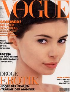 GERMAN VOGUE - MAY 1994 COVER MODEL - JANE MARCH