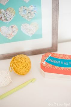 Customize a quirky and pretty storage box for your crochet hooks and knitting needles using a Silhouette, some vinyl, and this super easy DIY craft tutorial!