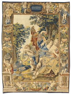 Brussel allegorical tapestry of love from the series The inclinatios of man. From the workshop of Matthijs Roelants and Joris Leemans, after a design by Lanceloot Lefebure circa 1650   Sotheby's