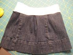 jeans to skirt! I have a couple of jeans that were too short that I would like to make into skirts!