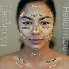 Contour makeup guide