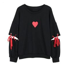 Lychee Spring Autumn Women Sweatshirt Heart Print Lace Up Casual Loose Long Sleeve Pullover Cute Tracksuit - Lychee Spring Autumn Women Sweatshirt Heart Print Lace Up Casual Loose – eefury Source by x_angeliina_x - Teen Fashion Outfits, Edgy Outfits, Cool Outfits, Pastel Goth Outfits, Womens Fashion, Fashion Dresses, Kawaii Clothes, Diy Clothes, Kawaii Fashion