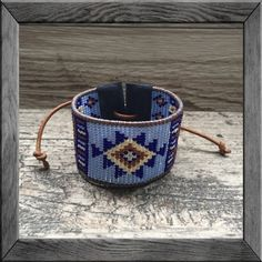 A mix of vintage glass seed beads with leather piping + suede ends give this BoHo tapestry bracelet a Southwest vibe. Add one of our Tibetan silver charms to make it your own. Beautifully handcrafted,