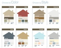Color schemes  Exterior The Perfect Paint Schemes for House Vinyl siding colors