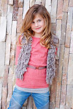 R'Belle Girls Loop Yarn Dune Vest