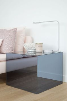 Best IKEA Lack table HACK ever! Upgrade your Lack Table with Plexiglas, design by Kristina Steinmetz