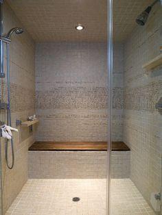 steam shower beautiful ann sacks accent tile modern bathroom by angela dechard design
