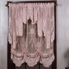 Beautiful Victorian Lace Curtain Romantic Pink Pair Them With Creamy Colored Walls And Delicate Lightingto Retreat To A Room Filled Softness