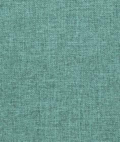 Sea Foam Blue Polyester Linen Fabric - $6.80 per yard
