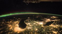 Video released by Nasa shows a spectacular view of the Earth as seen from the International Space Station (ISS)
