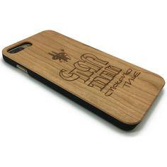 Cartoon rabbit wooden phone cover case iphone 7/6 samsung S7/6 edge   jiacase