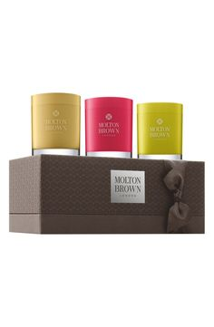 These Molton Brown candles smell amazing.