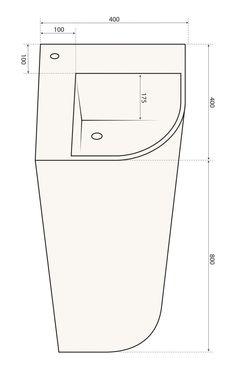 Lavabo de pie / de esquina / de Pietraluce® / moderno - ANGLE - Technova spa