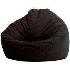 Beautiful @Overstock.com   BeanSack Black Microsuede Bean Bag Lounge Chair    Comfortable And Durable Part 9