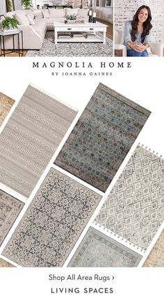 Oct 2018 - Neutral Area Rugs from Magnolia Home by Joanna Gaines. Discover unique rug patterns in tones to suit your living room, dining room or bedroom. Farmhouse Dining Room Rug, Modern Farmhouse Decor, Coastal Living Rooms, Living Room Area Rugs, Dinning Room Rugs, Cozy Living, Joanna Gaines Rugs, Magnolia Homes, Scrappy Quilts