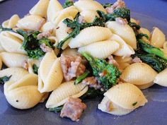 Handle the Heat » Orecchiette with Spicy Sausage and Broccoli Rabe - Giada De Laurentiis - great quick and easy recipe. I used regular sausage and added some hot pepper instead. I also used fusilli... it's a great classic recipe.