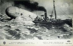"On 2nd Feb 1916. German Zeppelin ""L.19"" lost in the North Sea."