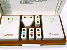 Norelco Deluxe International Travel Kit Electricity 2 Converters 5 Adapter World