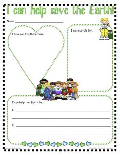 """Free """"I Can Help Save the Earth"""" Printable"""