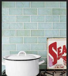 glass subway tile kitchen - Google Search