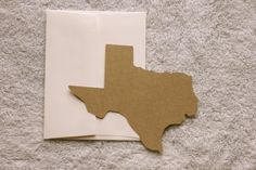 Texas Shaped Notecards 4/pack  Free shipping by SoFilledWithLove, $5.00
