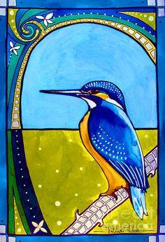 Kingfisher - Art by Dora Hathazi Mendes