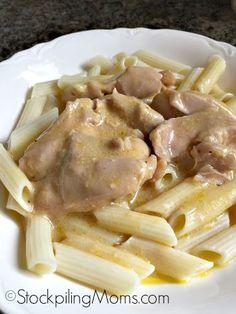 Crockpot Cheesy Garlic Chicken