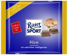 RITTER SPORT Fake Schokolade Sorte Hirn(Cool Pictures)