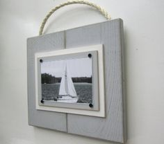 Distressed Grey Plank Frame for 4x6 Photo with by TheBoathouse1