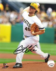 Gerrit Cole Signed Pittsburgh Pirates 8x10 Throwback Jersey Photo SI