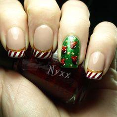 RainPow Nails: Weihnachtszeit - French Candy Cane