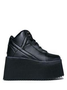 a47d53134d1 QOZMO Hi 2 - BLACK. Vegan FriendlyBlack SneakersPlatform ...