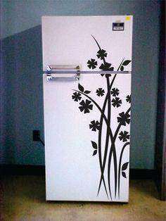 Vinyl Wall Art Refrigerator Decal. $36.99, via Etsy.