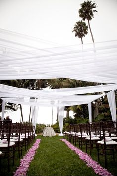 The idea of the sail cloths -- outdoor wedding.