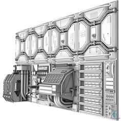 Sci-Fi Wall Panel - 3D Model for Sale - 3D Squirrel by 3DSquirrel.co.uk, via Behance