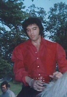 Elvis Riding At Graceland