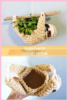 Sloth Planter Crochet Pattern Sloth Planter Crochet Pattern Everything you need to know to make beautiful Macrame Feather Earrings! Video tutorial, lots of pictures and directions Sloth planter crochet pattern mini succulent planter hanging Crochet Sloth, Bag Crochet, Crochet Motifs, Crochet Animals, Free Crochet, Crochet Patterns, Crochet Dinosaur, Sew Pattern, Unique Crochet