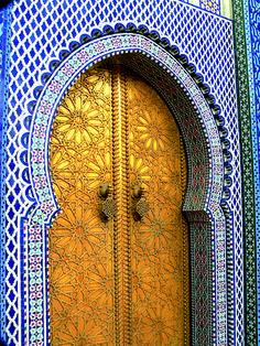 Door in Fes, Morocco. www.facebook.com/Morocco.Specialist