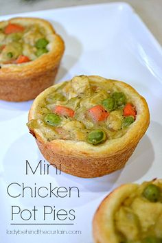 Mini Chicken Pot Pies - Lady Behind The Curtain #PillsburyCrescentRounds #PillsburyHolidayBlogger