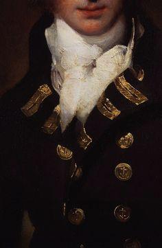 Admiral Sir Graham Moore, Sir Thomas Lawrence, ca. 1790. Detail.
