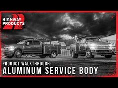A standard Highway Products service body comes with six internal storage compartments, a drop down tail gate and a bolt on bumper. The lockable storage compa. Truck Tools, Truck Tool Box, Trailer Storage, Truck Storage, Dump Trucks, Pickup Trucks, General Motors, Land Rover Defender, Truck Bed Slide
