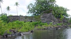 Mysterious ruins of Nan Madol - No one can say exactly when the city was built, only that it is made of over 750,000 tons of basaltic rock. The slabs of rock are huge and with a population at the time of fewer than 30,000 people, their construction remains a mystery. Nan Madol is built entirely on coral and too several centuries to build, then were eventually abandoned.