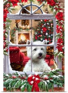 Christmas Page 1 westies grooming, westies terrier, westies cakeChristmas Page 1 Christmas Scenes, Christmas Mood, Very Merry Christmas, Noel Christmas, Christmas Animals, Christmas Pictures, All Things Christmas, Vintage Christmas, Westies