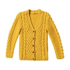 Easy Knitting : Knitting: 100 knitting ideas with instructions and knitting patterns, Embroidery On Clothes, Embroidered Clothes, Boho Outfits, Fashion Outfits, Yellow Cardigan, V Stitch, Cable Knit Cardigan, Blouse Outfit, Easy Knitting